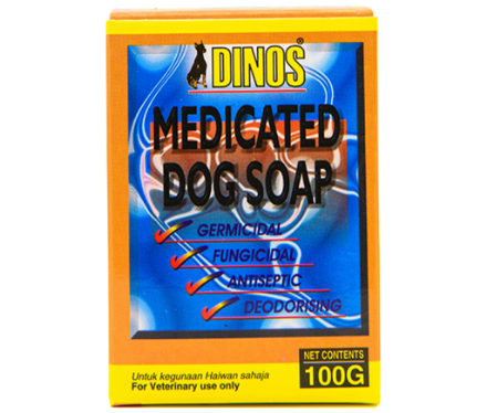 Picture of Dinos Medicated Dog Soap 100g
