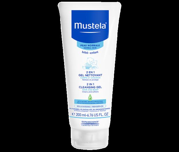 Picture of Mustela 2 En 1 Gel Nettoyant Cheveux et Corps 200 ml