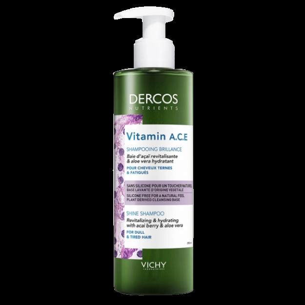 Picture of Dercos Vitamin A.C.E Shampooing Brillance Cheveux Ternes et Fatigués 250 ml