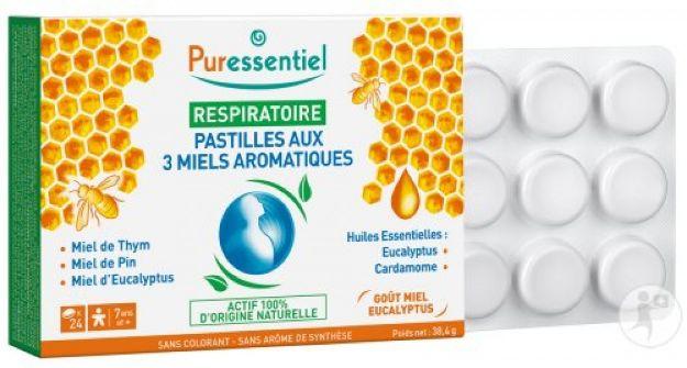 Picture of Puressentiel Respiratoire Pastilles 3 Miels