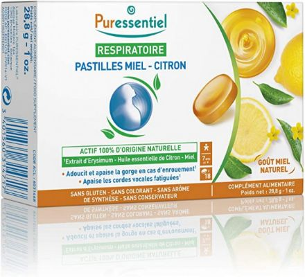Picture of Puressentiel Respiratoire Pastilles Miel - Citron