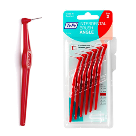 Picture of TePe Angle Interdental Brush Red