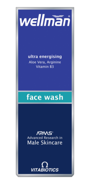 Picture of Vitabiotics Wellman Skincare Face Wash 125 ml